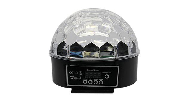 MEIA BOLA CRISTAL LED RGBWAP