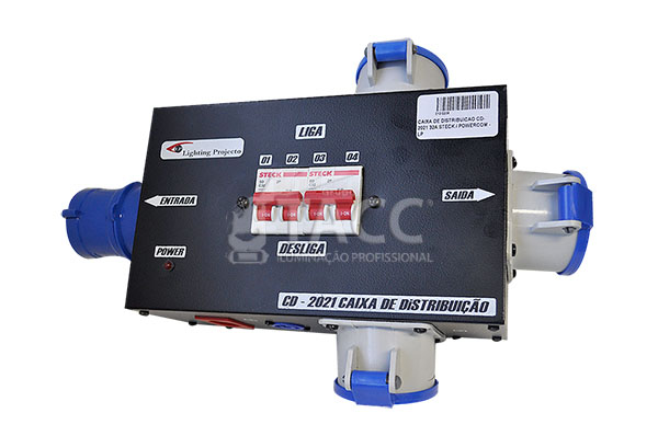 CAIXA DE DISTRIBUICAO CD-2021 32A STECK / POWERCOM