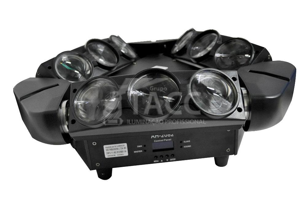 DISCO ARANHA LED 9 X 12W RGBW AH-2082