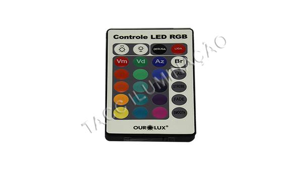 LAMPADA LED RGB BULBO BIVOLT C/ CONTROLE - OUROLUX
