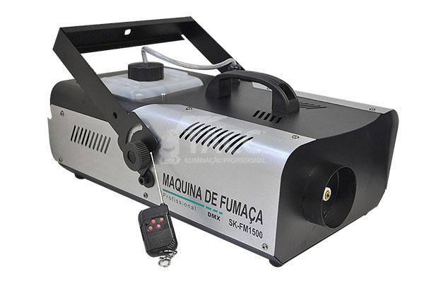 MAQUINA DE FUMACA 1500W DMX 220V - SK
