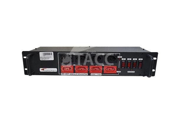 MODULO DISJUNTOR 04 CNS ENTRADA 220V SAIDAS 110/220V MC-001