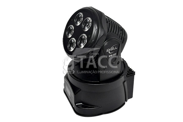 MOVING HEAD LED WASH 5 X 18W RGBWA + UV EW-105 - EXELL