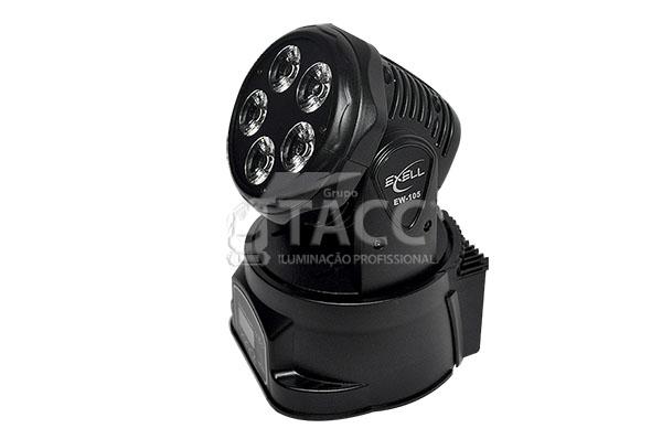 MOVING HEAD LED WASH 5 X 18W RGBWA + UV EW-105 - EXELL