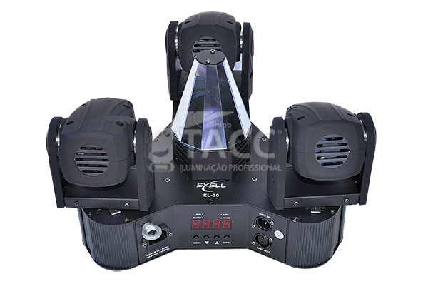 MOVING MINI BEAM 3 X 10W RGBW EL-30 DMX / BIVOLT EL-30