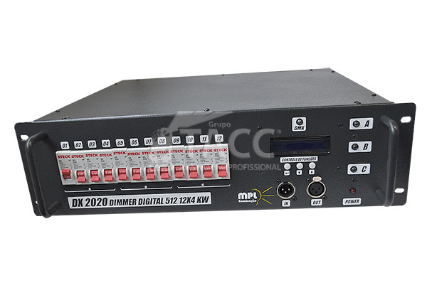RACK DIGITAL 12 CANAIS 4000W DX 2020  - MPL