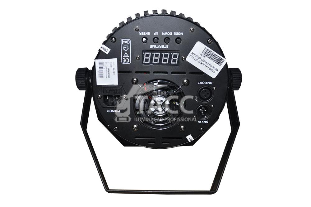 REFLETOR LED 18 X 10W RGBWA FULL SLIM PL-1810
