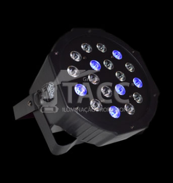 REFLETOR LED 18 X 1WTS RGB SLIM - INFINITY