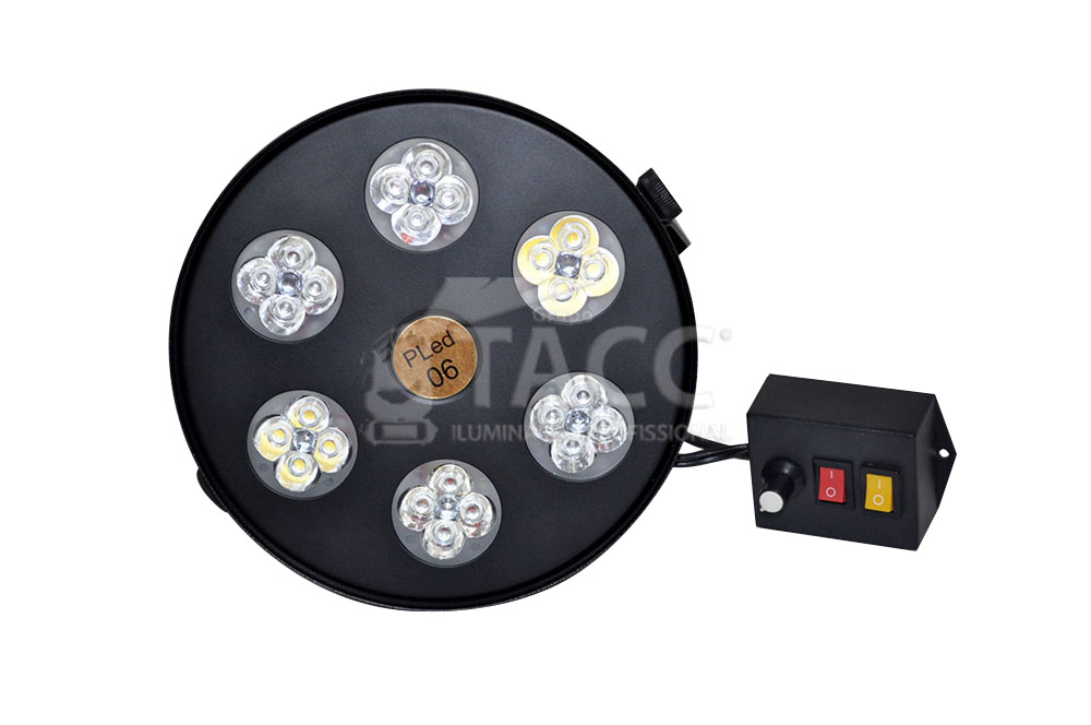 SEQUENCIAL LED 4 CORES COM 2 STROBOS PLED06