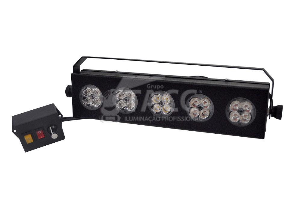 SEQUENCIAL LED 4 CORES C/ STROBO BIVOLT PLED05