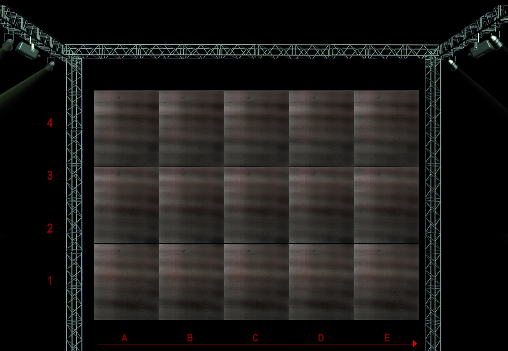 PAINEL DE LED SP-10 / DA RGB 0,64  X  0,72 - NEW LED