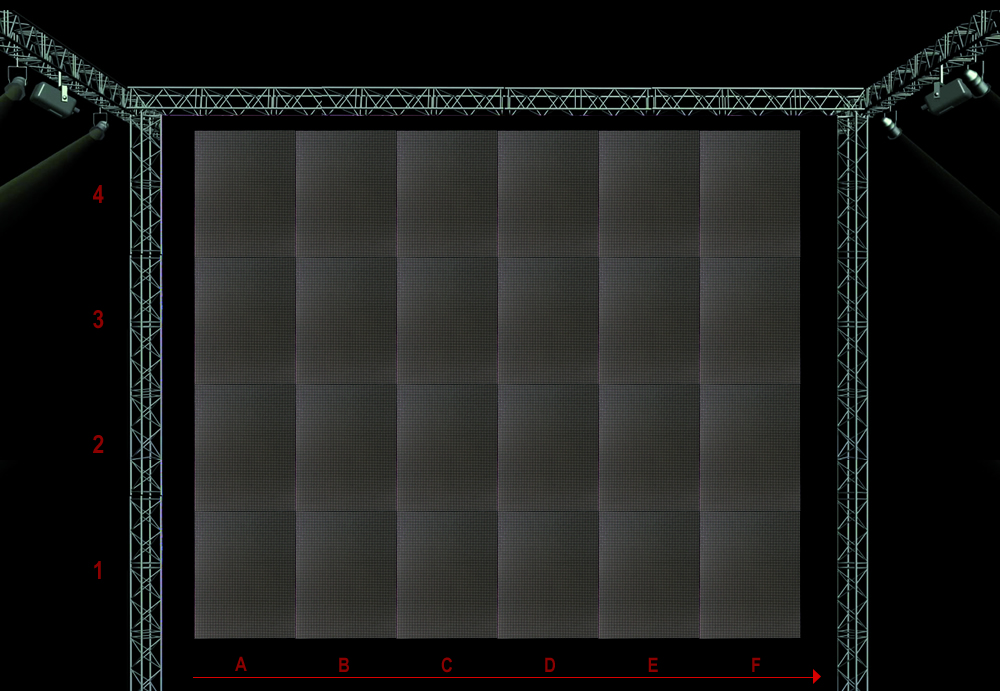 PAINEL DE LED SPE-08E 512MM X 640MM OUTDOOR - NEW LED